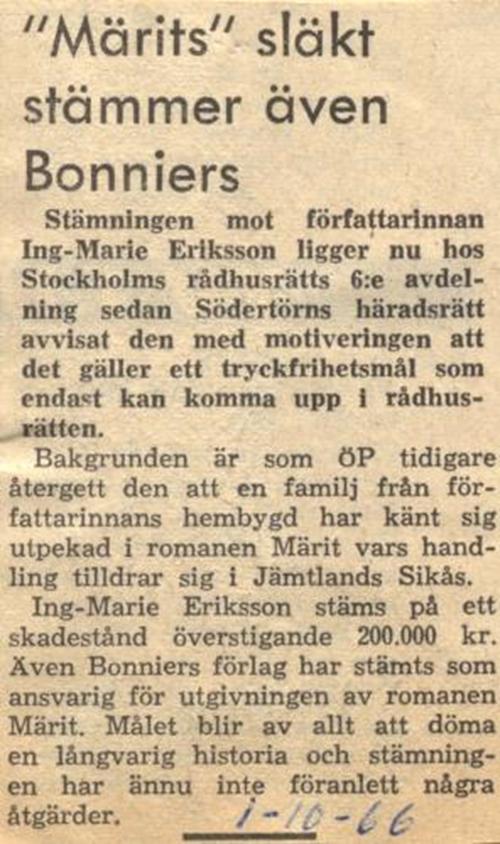 01 oktober 1966 ing-marie eriksson