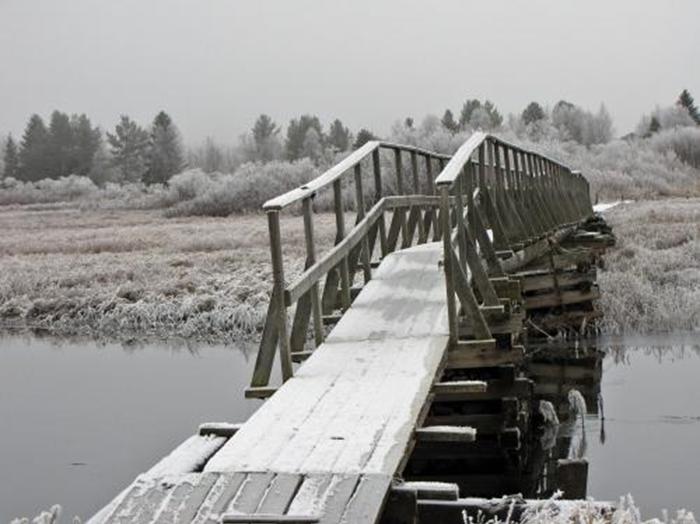11 bron över till badplatsen