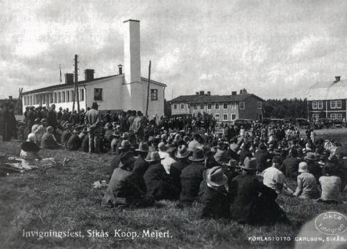 22 invigningen av sikås kooperativa mejeri 1930