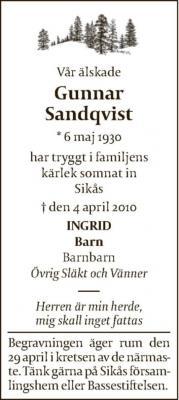 gunnar sandqvist