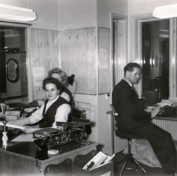 interiör av stationen från 1950-tal